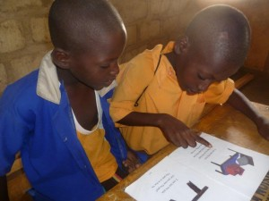 Ghana boys reading